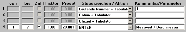 Extract!basic Filtertabell mit lfdNr