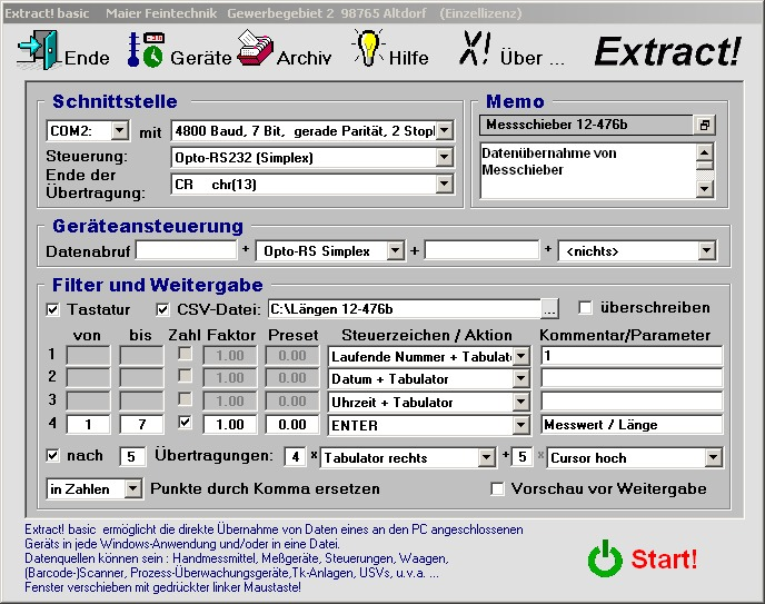 Extract! basic